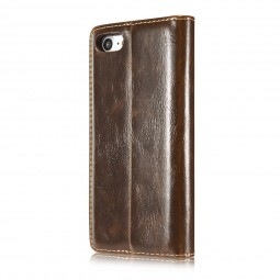 Etui iPhone 8 / 7 Portefeuille Marron - CaseMe