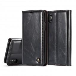 Etui iPhone X Portefeuille Noir - CaseMe