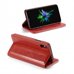Etui iPhone X Portefeuille Rouge - CaseMe