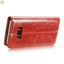 Etui Galaxy S8 Portefeuille rouge - CaseMe