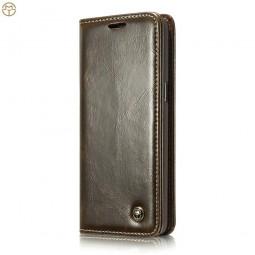 Etui Galaxy S8 Portefeuille marron - CaseMe