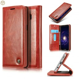 Etui Galaxy S8 Plus Portefeuille rouge - CaseMe