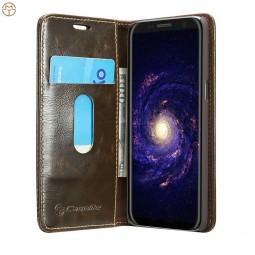 Etui Galaxy S8 Plus Portefeuille marron - CaseMe