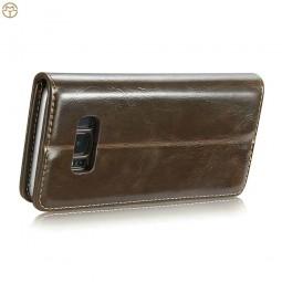 Etui Galaxy S8 Plus Portefeuille marron - CaseMe