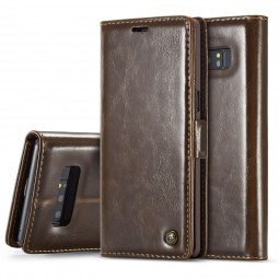 Etui Galaxy Note 8 Portefeuille Marron - CaseMe