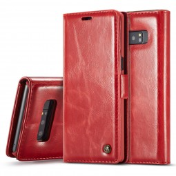 Etui Galaxy Note 8 Portefeuille Rouge - CaseMe