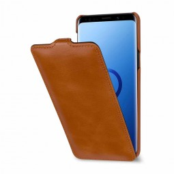 Etui Galaxy S9 UltraSlim en cuir véritable cognac - StilGut