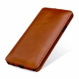 Etui Galaxy S9+ UltraSlim en cuir véritable cognac - StilGut