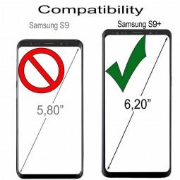 Etui Galaxy S9+ portefeuille Talis en cuir véritable grainé Noir - StilGut