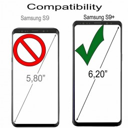 Etui Galaxy S9+ anti RFID / NFC en cuir véritable noir - StilGut