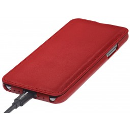 Etui iPhone X ultraslim en cuir véritable Rouge Nappa - StilGut