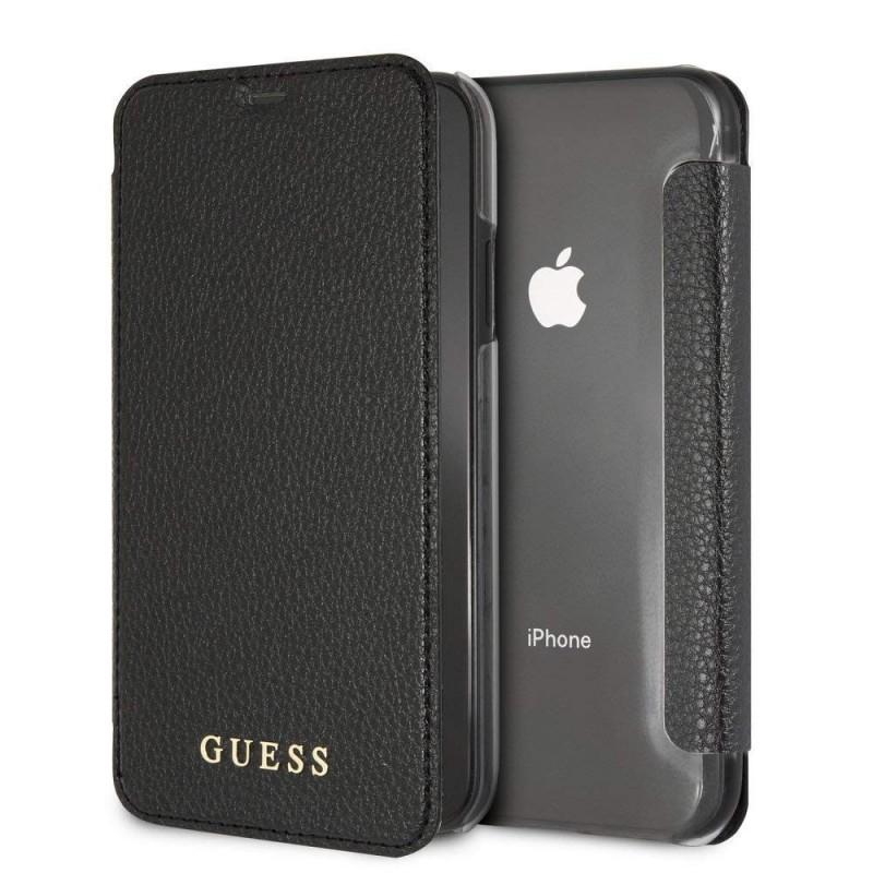 Etui iPhone Xr Coque Transparente couverture Noire - Guess