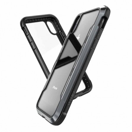 Coque iPhone Xr Transparente et Noire Defense Shield - Xdoria