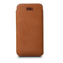 Housse iPhone 8 Plus / 7 Plus en cuir véritable ultraslim marron - Sena Cases