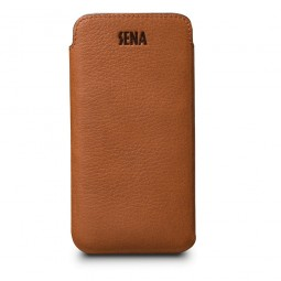 Housse iPhone 8 / 7 en cuir véritable ultraslim marron - Sena Cases