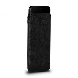 Housse iPhone 8 / iPhone 7 en cuir véritable Bence Ultra Slim noir - Sena Cases