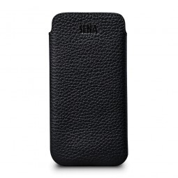 Housse iPhone 8 / iPhone 7 en cuir véritable Bence Ultra Slim noir - Sena Cases