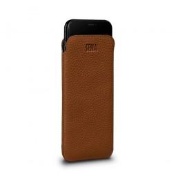 Housse iPhone Xs en cuir véritable ultraslim marron - Sena Cases