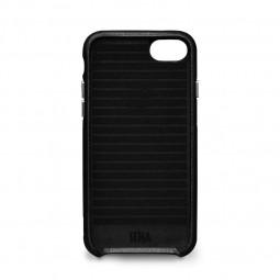 Coque iPhone 8 / iPhone 7 en cuir véritable porte-cartes noir - Sena Cases