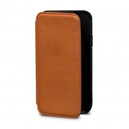 Etui iPhone Xs / iPhone X en cuir véritable porte-cartes marron - Sena Cases