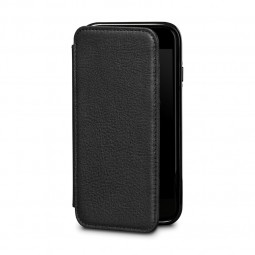 Etui iPhone 8 / iPhone 7 en cuir véritable porte-cartes noir - Sena Cases