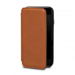 Etui iPhone 8 / iPhone 7 en cuir véritable porte-cartes marron - Sena Cases