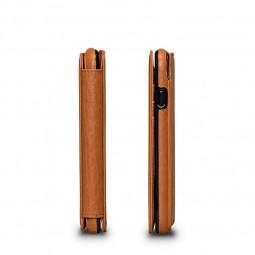 Etui iPhone 8 / iPhone 7 en cuir véritable porte-cartes marron - Sena Cases