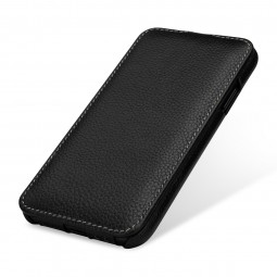 Etui iPhone Xr UltraSlim en cuir véritable noir - StilGut