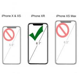 Etui iPhone Xr UltraSlim en cuir véritable noir - StilGut