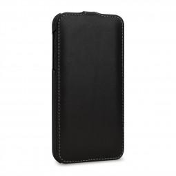 Etui iPhone Xr ultraslim en cuir véritable Noir Nappa - StilGut