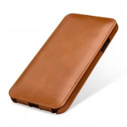 Etui iPhone Xr UltraSlim en cuir véritable cognac - StilGut