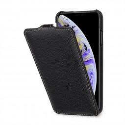 Etui iPhone Xs Max UltraSlim en cuir véritable noir - StilGut