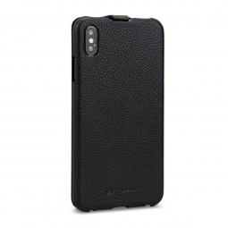 Etui iPhone Xs Max UltraSlim en cuir véritable noir - StilGut