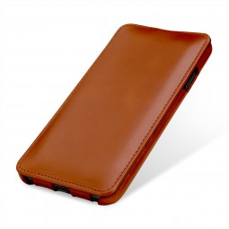 Etui iPhone Xs Max UltraSlim en cuir véritable cognac - StilGut
