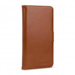 Etui iPhone Xs Max portefeuille Talis en cuir véritable Cognac - StilGut