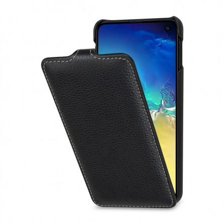 Etui Samsung Galaxy S10e UltraSlim en cuir véritable noir - StilGut