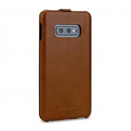Etui Samsung Galaxy S10e UltraSlim en cuir véritable cognac - StilGut