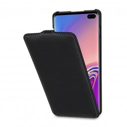 Etui Galaxy S10 Plus ultraslim en cuir véritable noir Nappa - StilGut