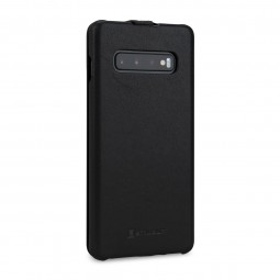 Etui Galaxy S10 Plus ultraslim en cuir véritable noir Nappa - StilGut