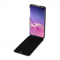 Etui Galaxy S10 ultraslim en cuir véritable noir Nappa - StilGut