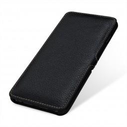 Etui Galaxy S10 Plus Book Type avec clip en cuir véritable noir - StilGut