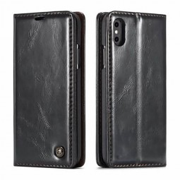 Etui iPhone Xs Max Portefeuille Noir - CaseMe