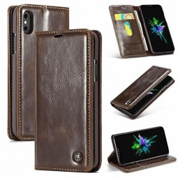 Etui iPhone Xs Max Portefeuille Marron - CaseMe