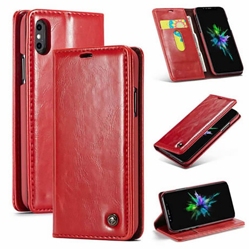 Etui iPhone Xs Max Portefeuille Rouge - CaseMe