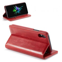Etui iPhone Xr Portefeuille Rouge - CaseMe
