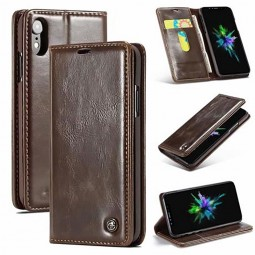 Etui iPhone Xr Portefeuille Marron - CaseMe