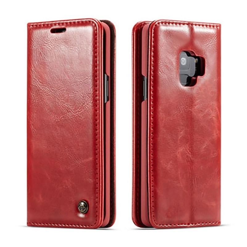 Etui Galaxy S9 Portefeuille rouge - CaseMe