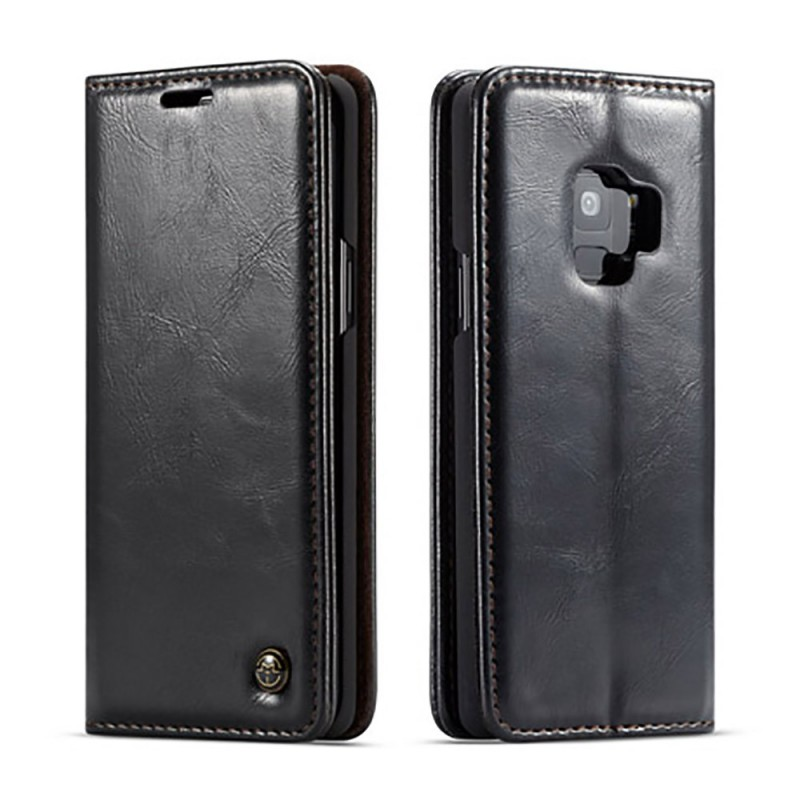 Etui Galaxy S9 Portefeuille noir - CaseMe