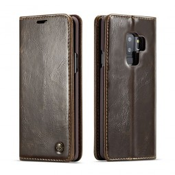 Etui Galaxy S9 Plus Portefeuille marron - CaseMe