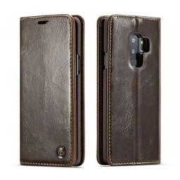 Etui Galaxy S9 Plus Portefeuille marron - CaseMe